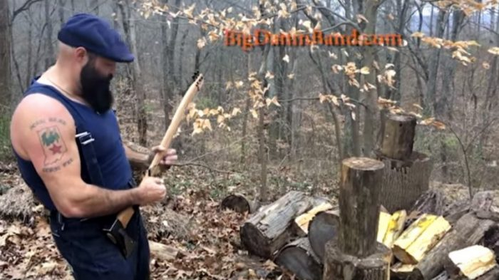 Blog & Music Fun - This guy plays a guitar turned axe and chops wood with it
